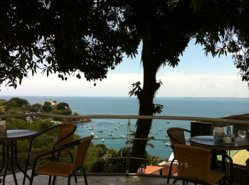 Visão do Terrasse Com esse mirante, se o restaurante oferecesse somente água, já estaria de bom agrado.