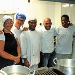 Equipe de profissionais que atuam junto ao chef Lucius Gaudenzi.