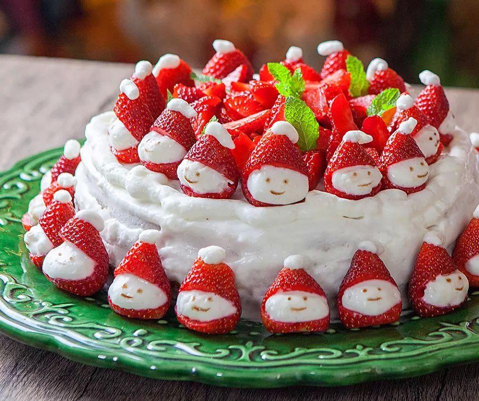 Bolo gelado natalino light