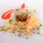 Salada de Feijão Verde que leva trio de legumes e Crispy de Tilápia com redução de Pimenta Rubra (biquinho), do chef Charles Silva.