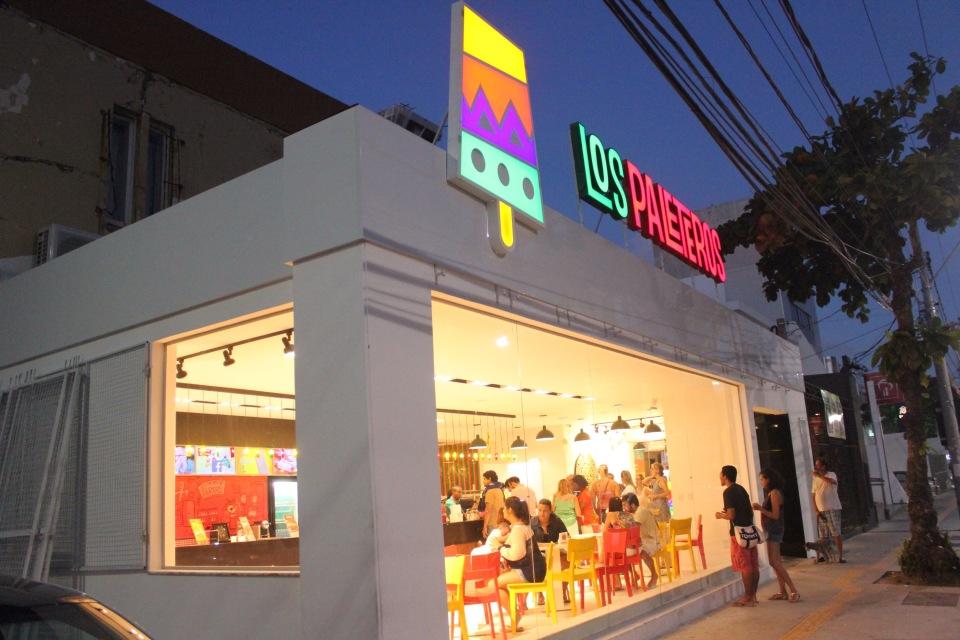 Faixada da loja Los Paleteros, no bairro da Barra. Foto: Repórter Gourmet.