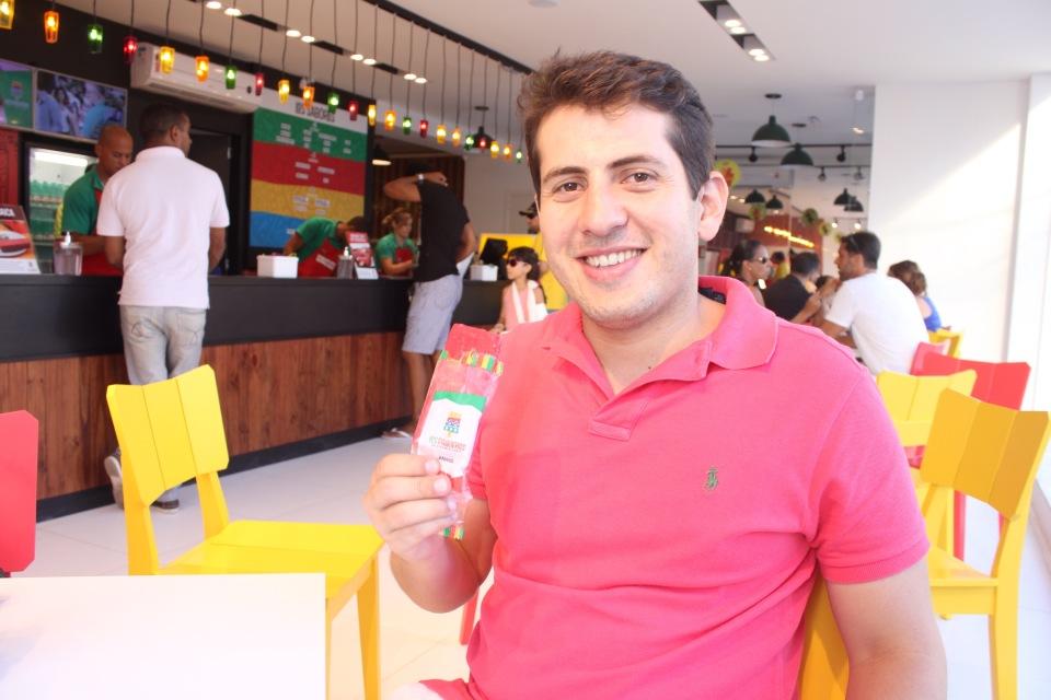 Diego Figueredo, sócio da franquia Los Paleteros de Salvador.
