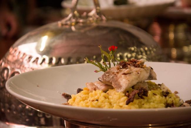 Risoto e pescado chef Clodomiro Tavares. Foto Divulgação