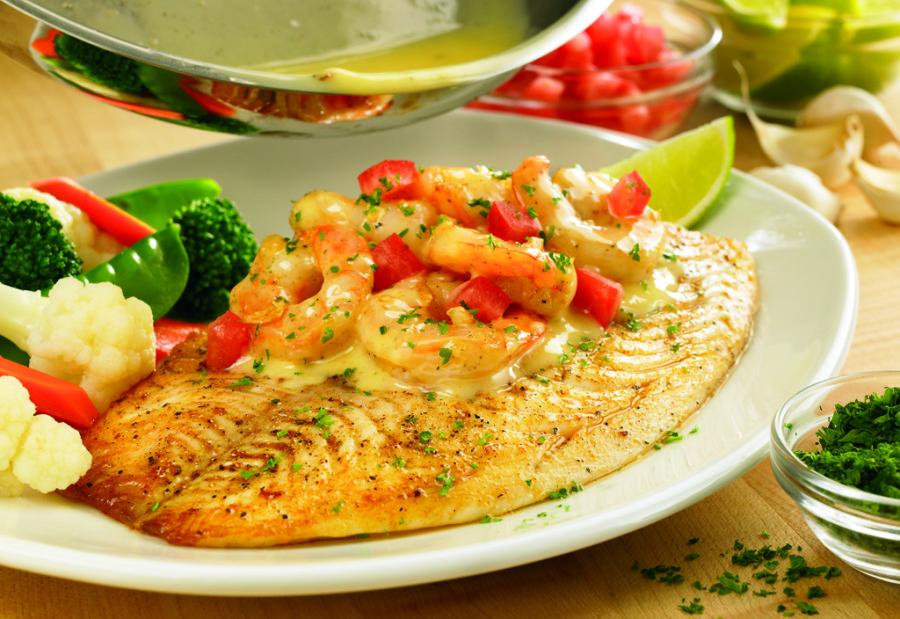 Grilled Fish Shrimp Scampi. Foto: Divulgação.