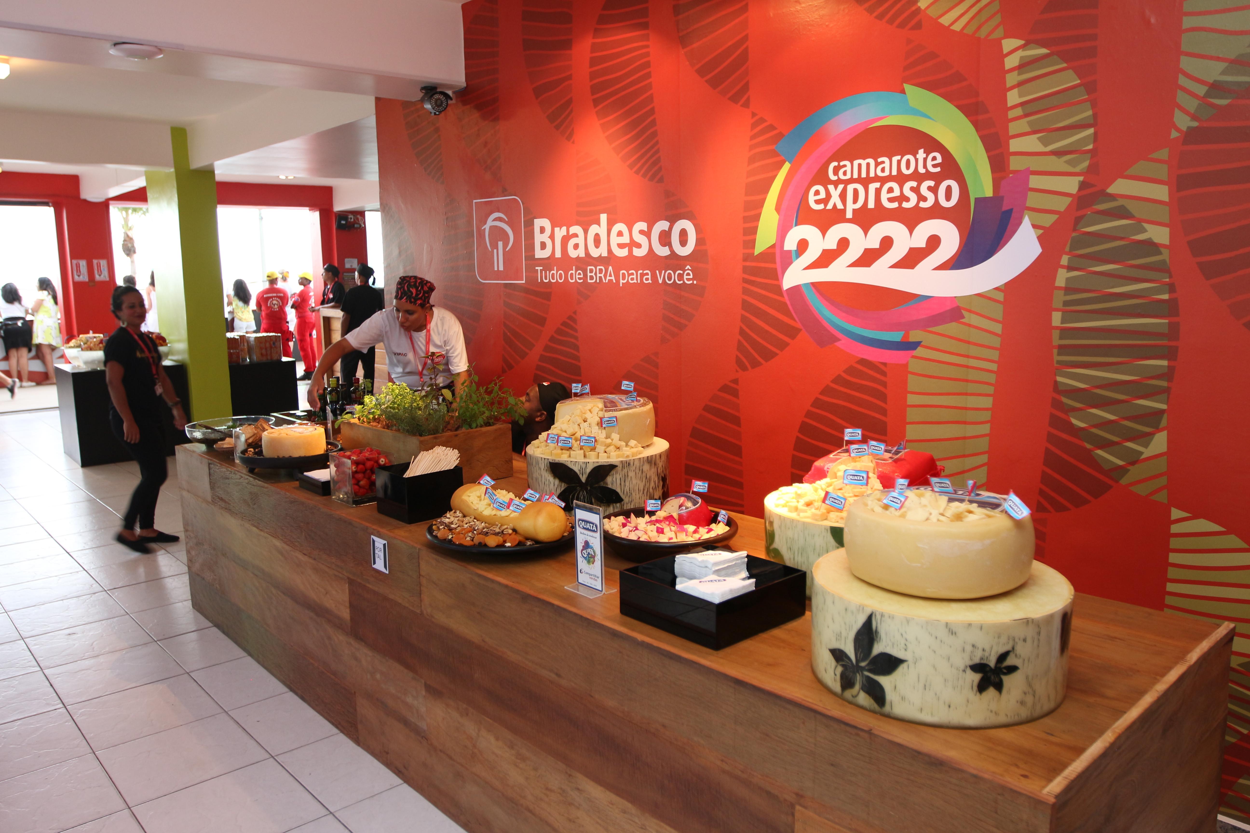 Salão buffet do camarote Expresso 2222. Foto: João Francisco / Divulgação.