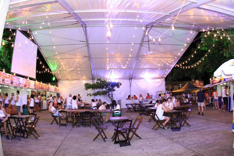 Praça de alimentação camarote Planeta Band Othon. Foto: Divulgação.