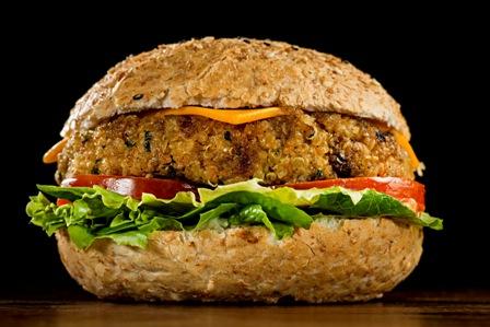 Cheeseburger Vegetariano. Foto: Nilo Biazzetto / Divulgação.