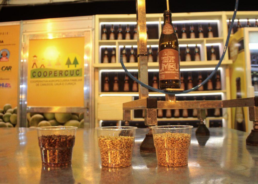 Stand Coopercuc da cerveja de umbu Gravetero. Foto: Gabrielle Ferreira - Repórter Gourmet.