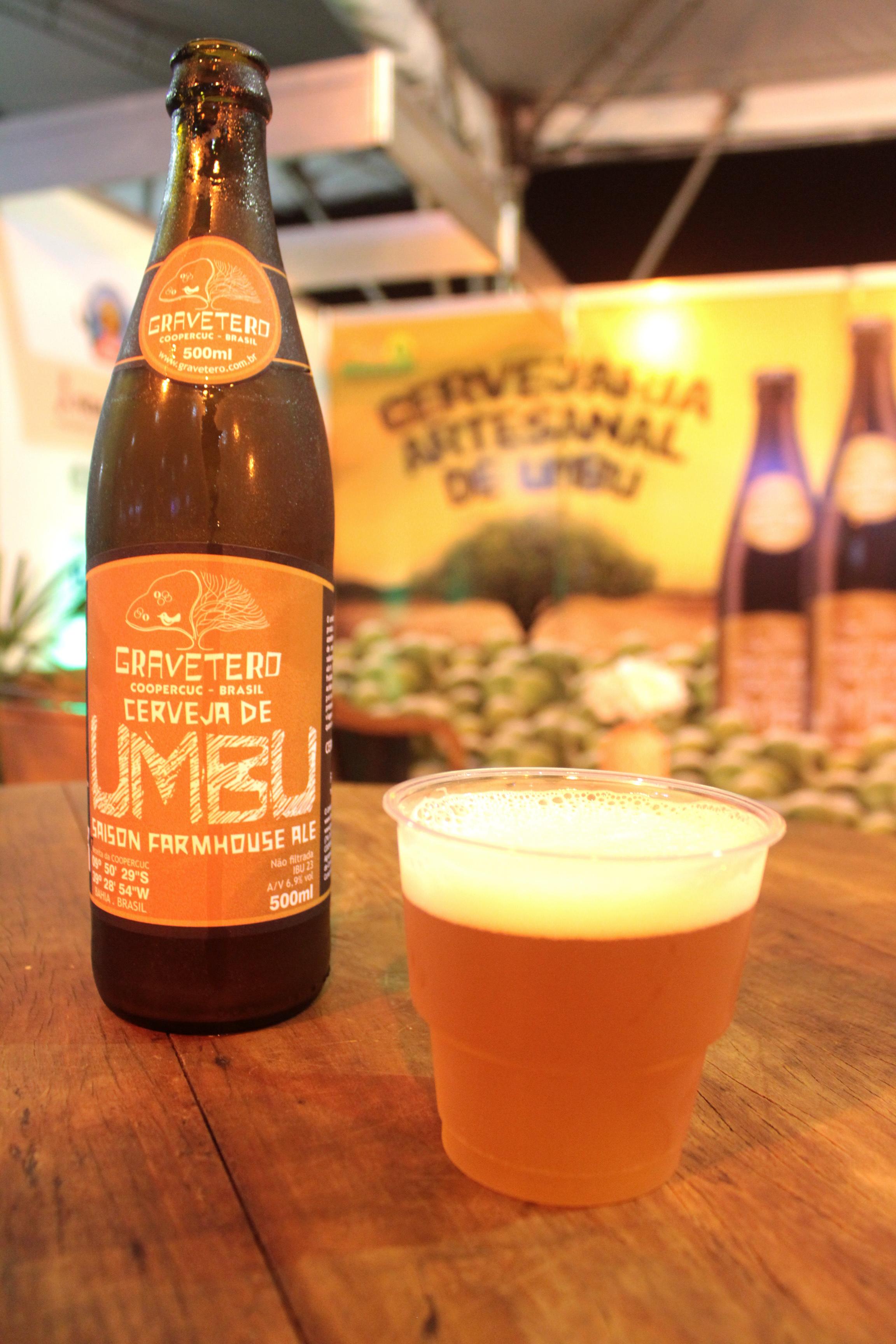 Cerveja de umbu da Gravetero, receita e matéria prima de Uauá (BA). Foto: Gabrielle Ferreira / Repórter Gourmet.