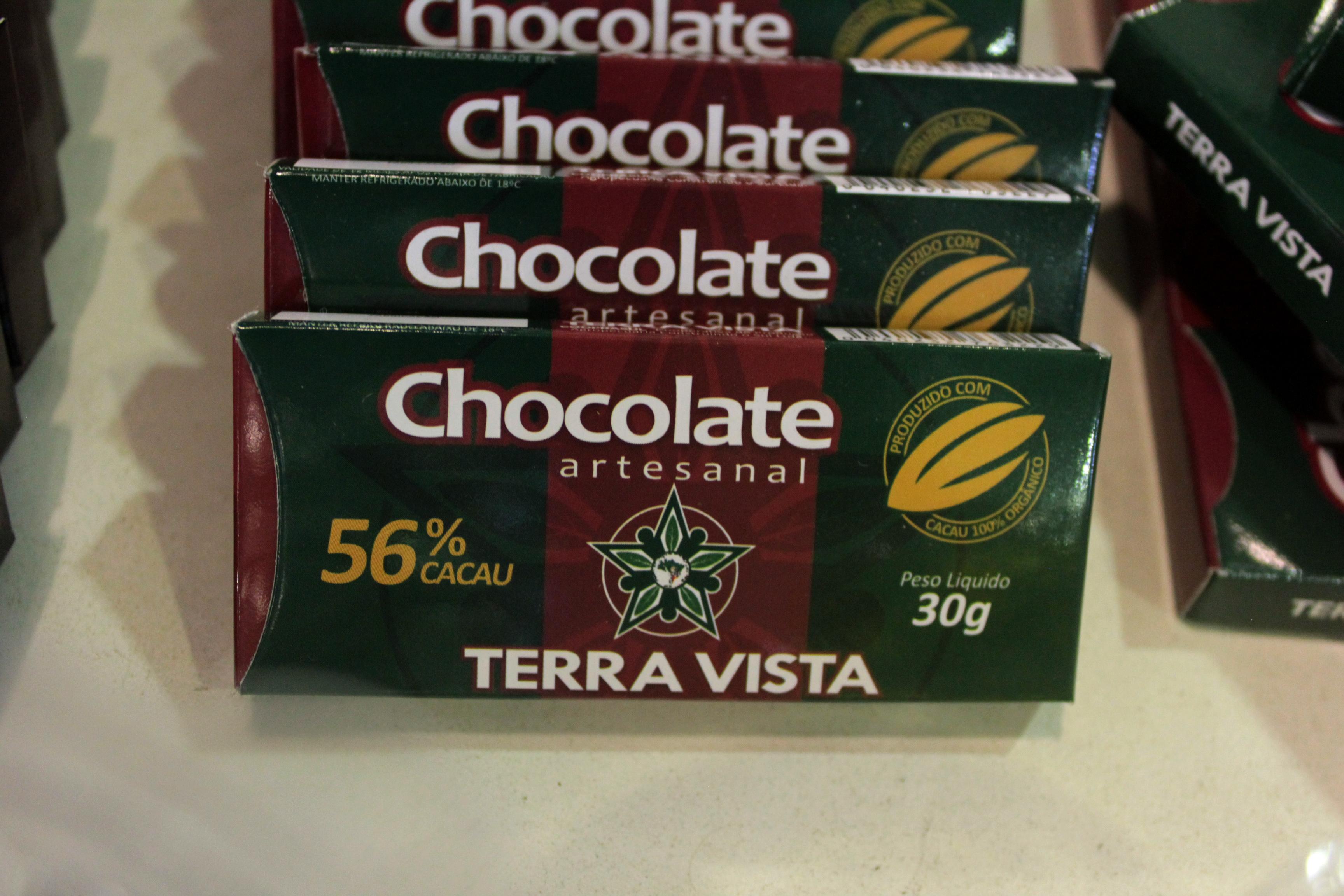 Chocolate Terra Vista produzido em Ilhéus. Foto: Gabrielle Ferreira / Repórter Gourmet.