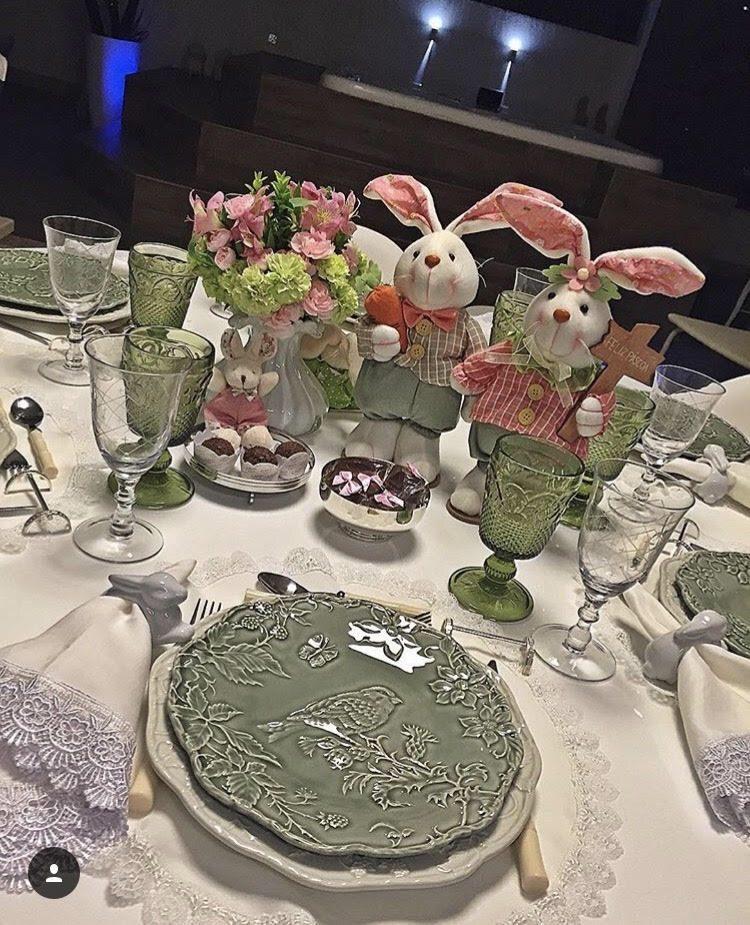 Workshop no shopping Paseo de como montr uma mesa para a Páscoa