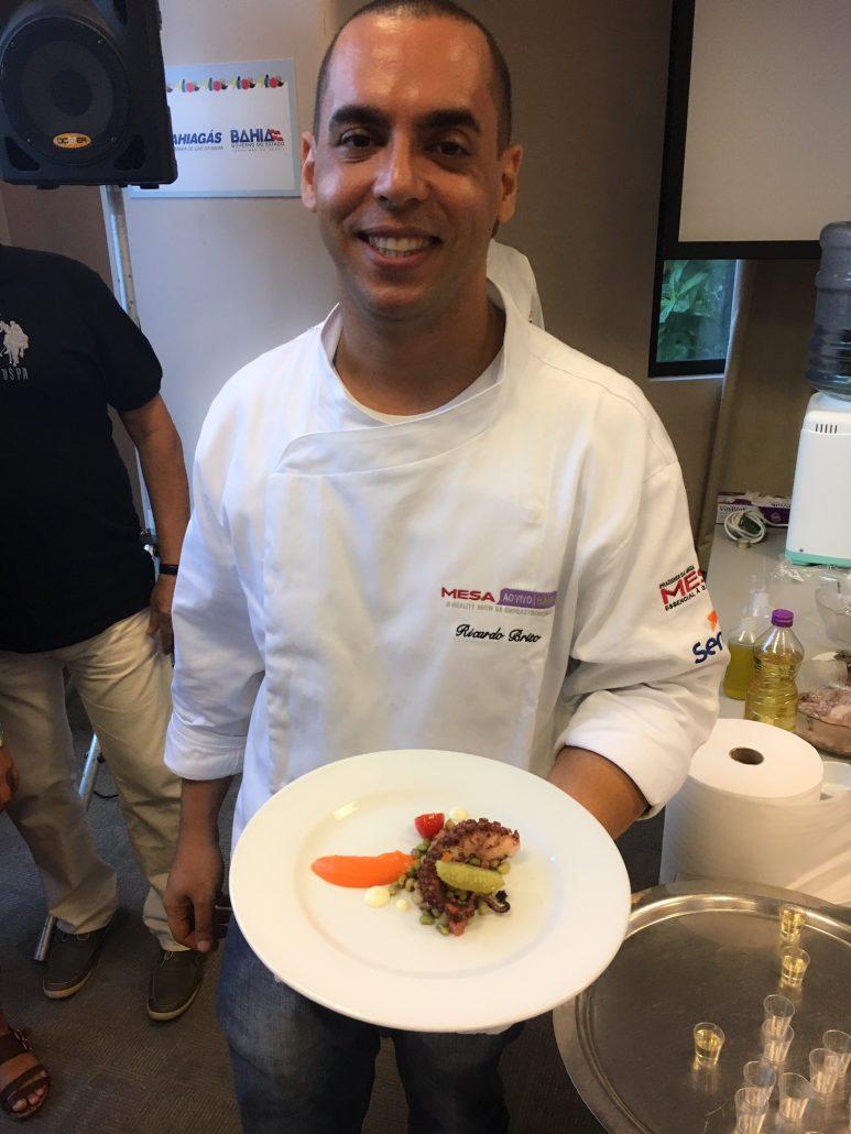 Chef Ricardo Brito do restaurante Al Mare. Foto: Repórter Gourmet.