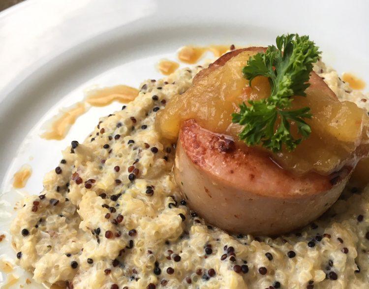 Receita do Pinho: Risoto defumado de quinoa com mignon ao molho de abacaxi